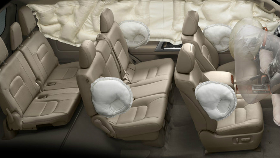 side airbags front side curtain airbags front and rear front airbags