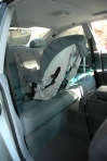 Britax Marathon installed rear-facing with seat belt and rear-facing tether (Swedish style)