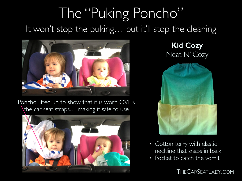 Motion Sickness Amp The Puking Poncho The Car Seat Lady