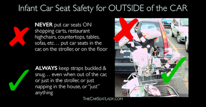 car seats shopping carts a dangerous combo the car seat lady. Black Bedroom Furniture Sets. Home Design Ideas